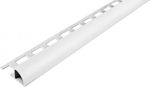 Viertelkreisprofil aus PVC 250 cm 6 mm weiß geschlossen