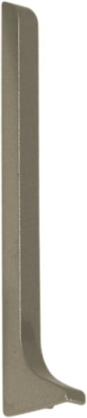 Endkappe für Sockelleisten 60 mm titan links eloxiert (matt)