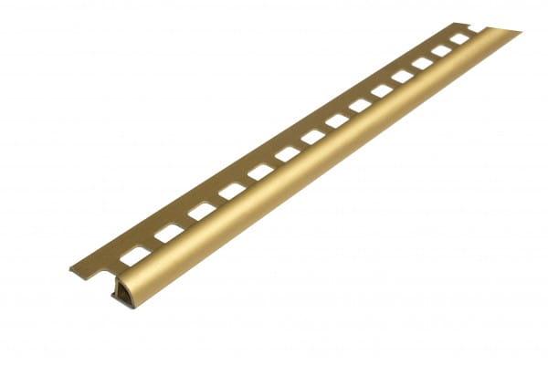 Viertelkreisprofil aus Aluminium 250 cm 10 mm gold eloxiert