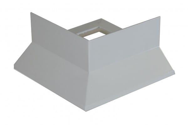 Eckstück Balkonprofil Y-Form Splitt grau beschichtet