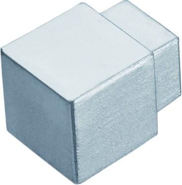 Quadratecke Aluminium silber eloxiert