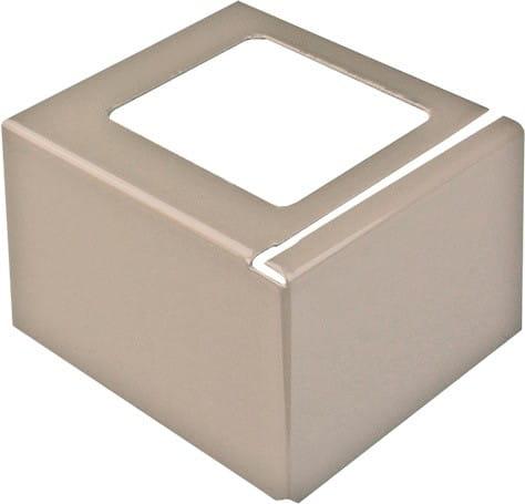 Balkonecke L-Form Aluminium beschichtet beige