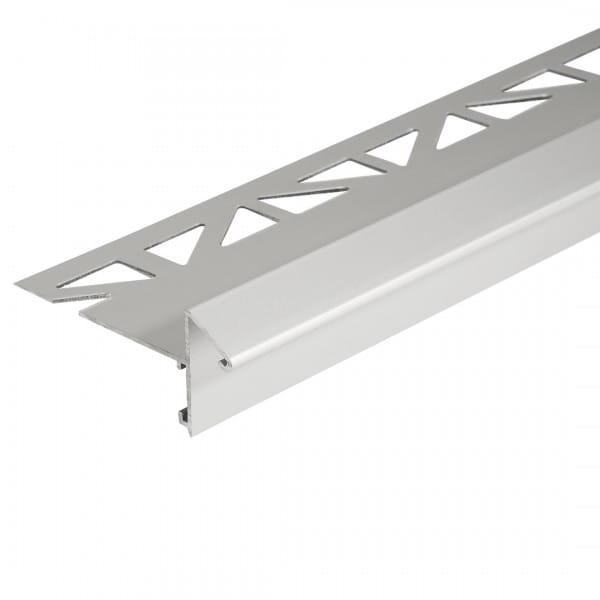 Balkonwinkelprofil mit Tropfkante 9 mm ungebohrt silber 18 mm