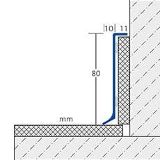 Sockelleiste Reno technische Zeichnung