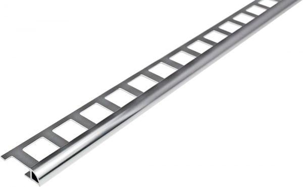 Viertelkreisprofil aus Aluminium 250 cm silber 6 mm hochglanzeloxiert