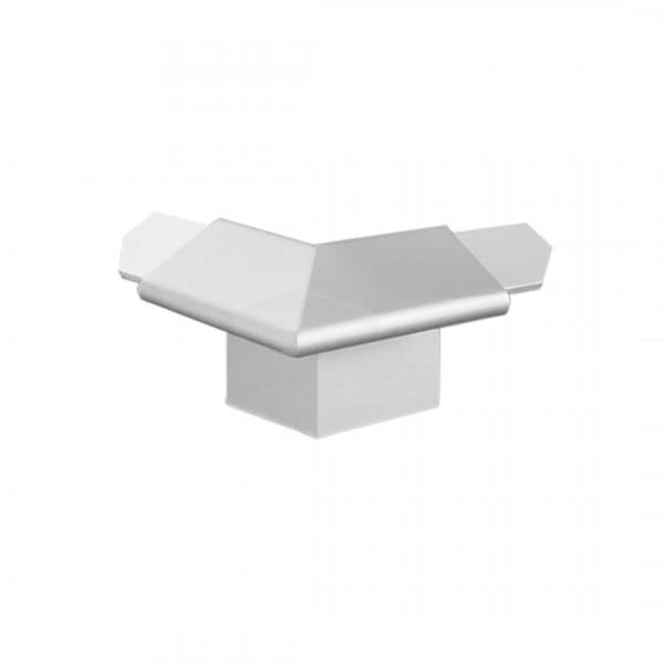 Außenecke für Balkonwinkelprofil mit Tropfkante 18 mm silber eloxiert