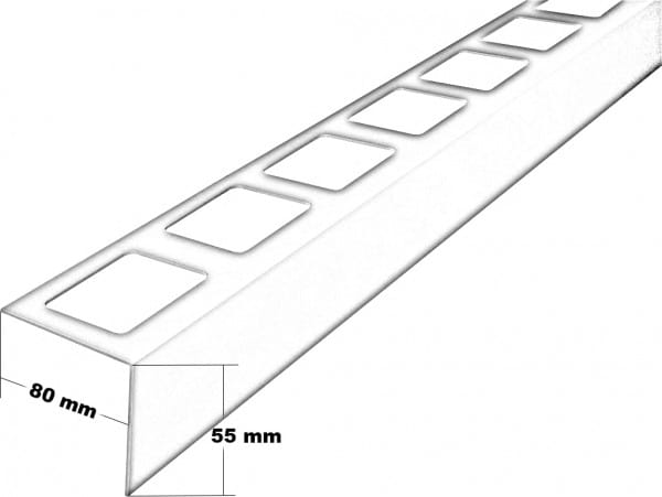 Balkonprofil L-Form Höhe55 Zeichnung