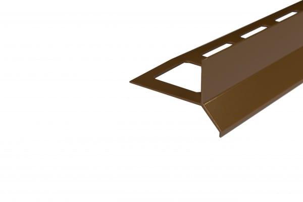 Balkonprofil Y-Form für Dickbett 65 mm braun