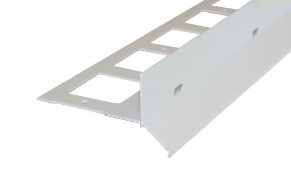 Balkonprofil Y-Form Splitt Kies eloxiert silber
