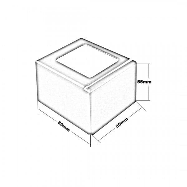 Ecke Balkonprofil L-Form Zeichnung Höhe 55 mm