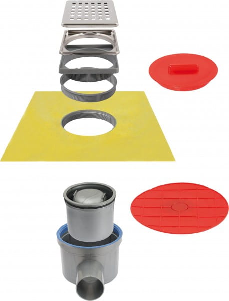Bodenablauf komplett-Set mit Folie