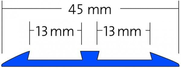 Treppenprofil für 2 Sicherheitseinlagen Zeichnung