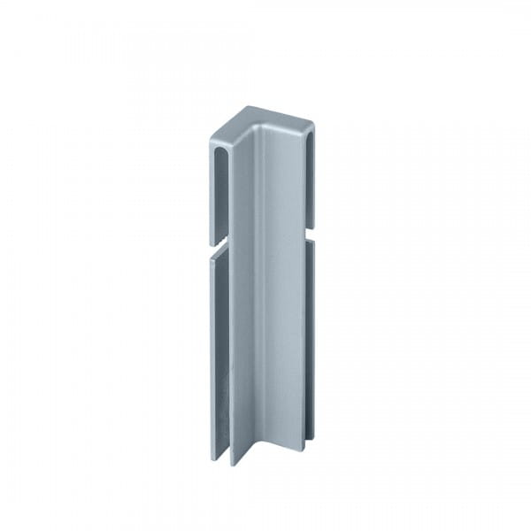Innenecke für Balkonwinkelprofil T-Form 40 mm platingrau
