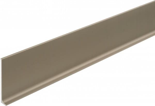 Sockelleiste aus Aluminium 60 mm titan eloxiert (matt)
