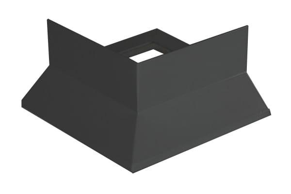 Eckstück für Balkonprofil Y-Form Splitt + Kies 53 mm silber