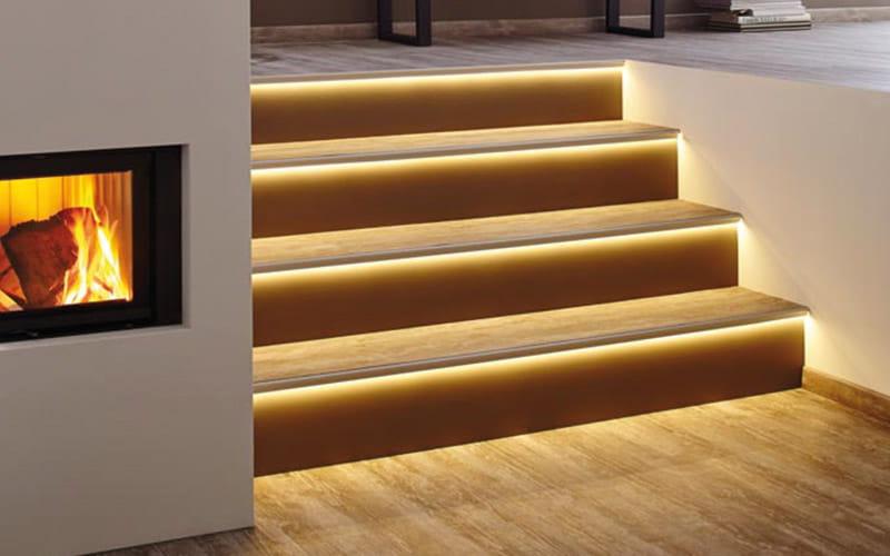 LED Treppenprofil im Florentiner Stil