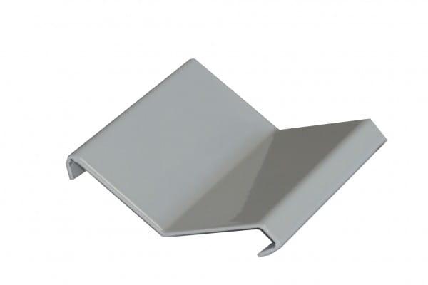 Verbinder für Balkonprofil Y-Form Splitt + Kies 53 mm silber