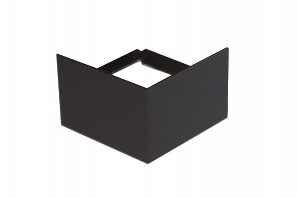 Eckstück für Balkonprofil T-Form 75 mm grau-braun