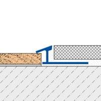 Anpassungsprofil mit schmaler Sichtkante technische Zeichnung