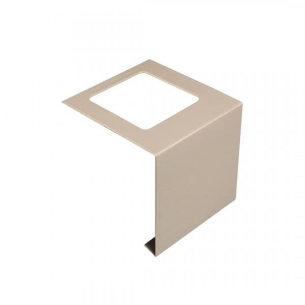 Verbinder für Balkonprofil L-Form Aluminium 55 mm beige