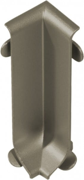 Innenecke für Sockelleisten 60 mm titan eloxiert (matt)